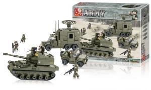 Sluban SlubanM38-B0308 Bloques de Construccion Army Elite Armored Divisivisi M38-B0308, multi color
