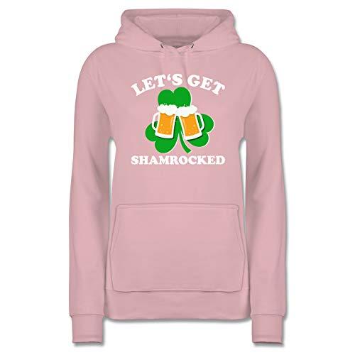 St. Patricks Day - Let's get Shamrocked - M - Hellrosa - JH001F - Damen Hoodie