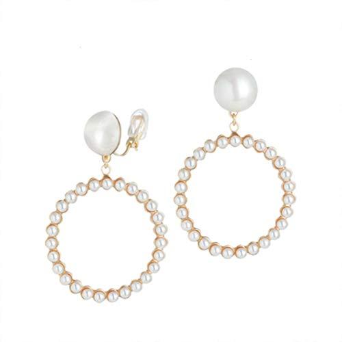 Zxx jewelry orecchini pendenti con perle per orecchini a cerchio orecchini per orecchini da donna,earclip