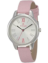 Titan Youth Analog White Dial Women's Watch -NK2481SL01