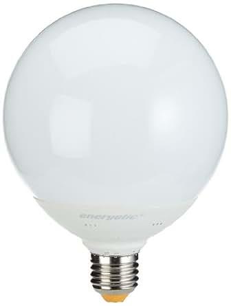 Energetic 1153251211 ESL Classic Globe E27 ampoule 25 W à Allumage instantané sans scintillement de classe énergétique A jusqu'à 80 % de réduction de la consommation 10 000 heures