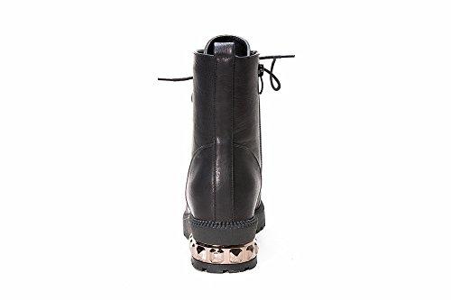Sconosciuto 1TO9Benda da Donna, Tacchi Piattaforma Stivali Morbido Materiale Black