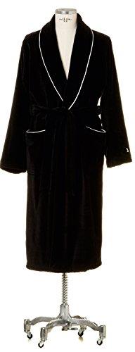 Möve Homewear Schalkragenmantel Velours in Gr. XL aus 100 {c61275243366d0dabe9ba19b5504d6ba4e6bd371df760565bbcd7720849360e4} Baumwolle, black