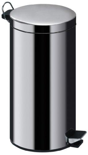 Premier Housewares Stainless Steel Pedal Bin, 30 L by Premier Housewares