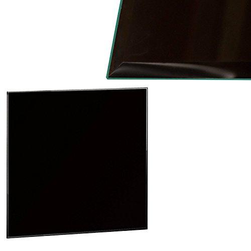 Glas-tischplatte Quadratische (Glasscheibe Glasplatte Schwarz Quadratisch 80 x 80 cm Glas für Tisch Tischplatte Glastischplatte Tischglasplatte - Facettenschliff, 6 mm Sicherheitsglas)