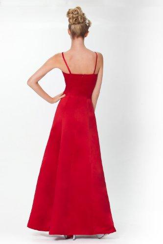 SEXYHER A-Form Brautjungfer Abendkleid Abendkleid in Schwarz, Rot, Lila, Pflaume, Silber, Elfenbein, Baby Blue Baby Pink und Farben - ED6024 Red
