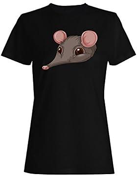 Nuevo Ratón Lindo Animal Divertido camiseta de las mujeres h471f