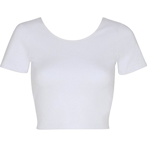 American Apparel Womens/Ladies Cotton Spandex Jersey Crop T-Shirt (Jersey T-shirt Spandex)