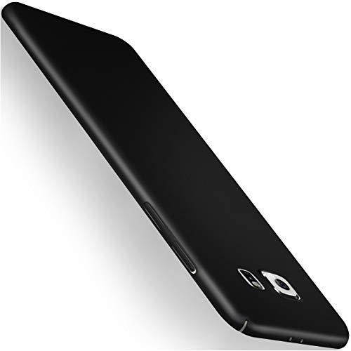 moex Samsung Galaxy S6 | Hülle Schwarz Alpha Back-Cover TPU Schutzhülle Dünn Handyhülle für Samsung Galaxy S6 Case Ultra-Slim Thin Skin Handy Schutz Rückseite