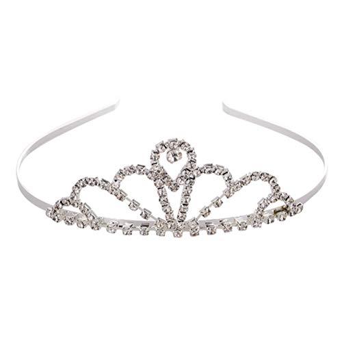 Frcolor Bijoux de Couronne de Cheveux en Cristal de Couronne de mariée Accessoires de Cheveux pour Le Mariage de Noël