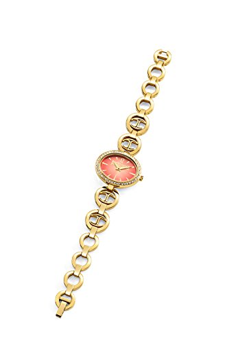 Just Cavalli Just Icon Women's Quartz Watch with Red Dial Analogue Display and Gold Stainless Steel Strap R7253214502