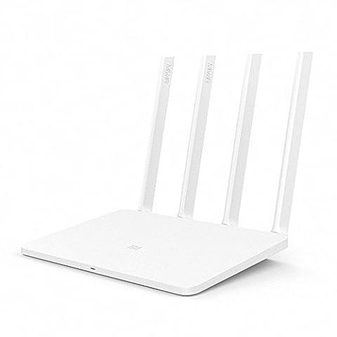 Xiaomi Router, Ollivan Original Xiaomi Mi WiFi Router 1167Mbps 128MB ROM 802.11ac Dual Band Xiaomi APP Control Gigabit Router with 4 Antennas - Xiaomi Router 3 ( White