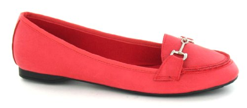 Spot On , Ballerines pour femme Rouge - Coral