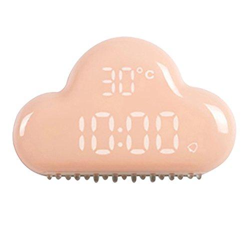 Vosarea Reloj Despertador de Nubes Reloj de Pantalla LED silencioso ultrasilencioso Reloj Creativo Decoración del hogar (Lavanda)