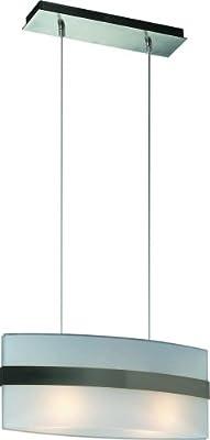 Massive 36060/17/10 Glaspendel Modern 2-Flg. stahl gebürstet, 2 x E27 60 Watt von Massive bei Lampenhans.de
