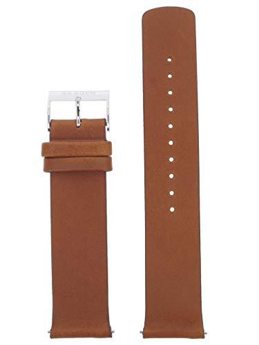 Skagen Uhrband Wechselarmband LB-SKW6449 Ersatzband SKW6449 Uhrenarmband Leder 21 mm Braun (Uhrenarmband Für Skagen)