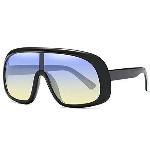 ZRTYJ Sonnenbrille Modedesign Google Style Männer Frauen Sonnenbrillen Farbverlauf Vintage Sonnenbrille Uv400 Shades Gafas Eyewear Oculos De Sol (Google Gafas)
