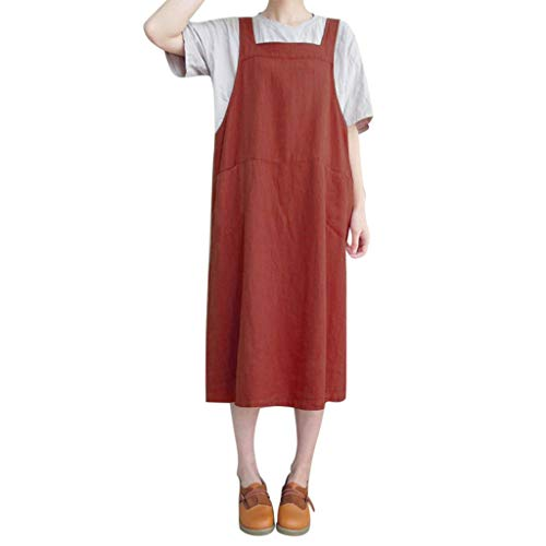 (Produp Frauen Jugend Mode Kleider Sleeveless Straps Pinafore Damen Lose Langes Hemd Mit Kapuze Lässige Komfortable Kleid)