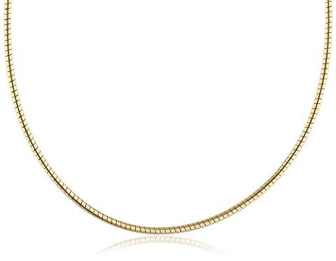 InCollections Damen-Halsreif 925/000 Sterlingsilber vergoldet Omega 1,4/42 cm 124029C140200