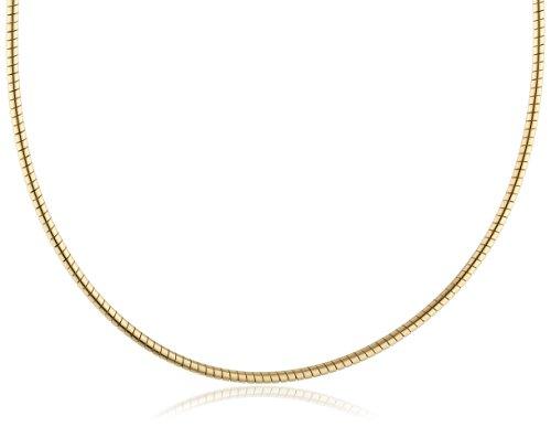 InCollections Damen-Halsreif 925/000 Sterlingsilber vergoldet Omega 2,0/45 cm 154029C200200