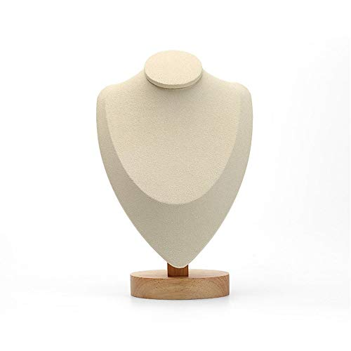 Wandschmuckständer Schmuckständer halskette anhänger halter zeigen regal modell rahmen halskette display rahmen puppe schmuck rack porträt halskette rahmen ( Farbe : Beige , Größe : 10*16*25cm )