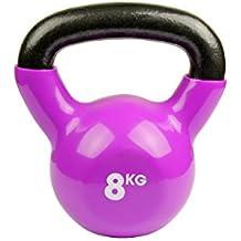Fitness Mad Kettlebell  - Pesa rusa de ejercicio y fitness, color púrpura, peso 8 kg