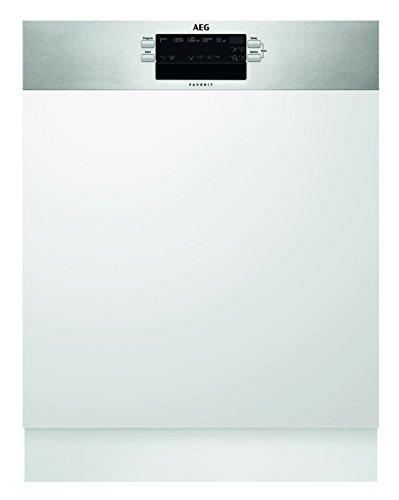 AEG FEB52600ZM Geschirrspüler (teilintegriert) mit Softspikes / Energieklasse A+++ (262 kWh pro Jahr) / Spülmaschine mit Timer und...