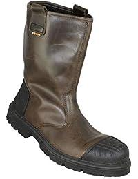 Zapatos de Seguridad Jallatte Jasalix S3 HRO SRC Trabajan los Zapatos de Botas de montaña Brown