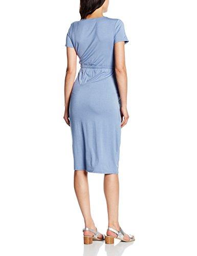 Mamalicious Mlgina Tess Ss Jersey Dress Nf, Robe de Maternité Femme Bleu (Colony Blue)