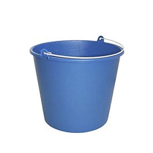 Yarn Round Cleaning Bucket 8 liters, very resistant and durable for its flexible material, with metal handle. Its dimensions are: High 23 x 25,5 cm, Blue, Unique