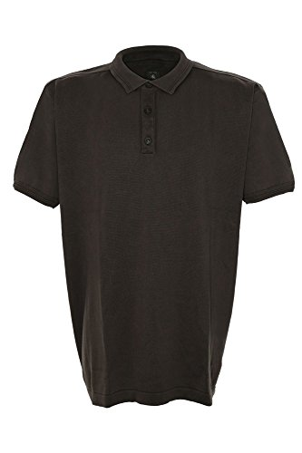 Kitaro, , kurzarm Polohemd Poloshirt Pullover, Feinstrick, simply taupe graubraun antik, 3XL [16869] - Feinstrick-piqué