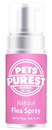 Pets Purest Tratamiento de pulgas 100% Naturales para Perros, Gatos y Mascotas | Mata y previene pulgas, garrapatas y piojos Ayude a Detener su picazón y rascado de Mascotas