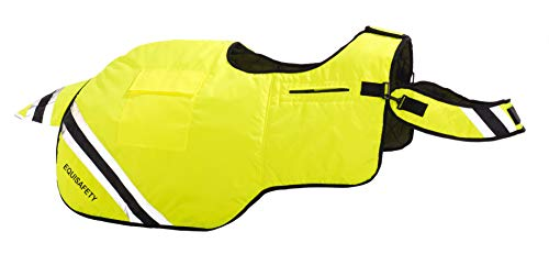 Equisafety Winter Rug - Ropa Reflectante para Caballo, Color Amarillo, Talla FR: COB