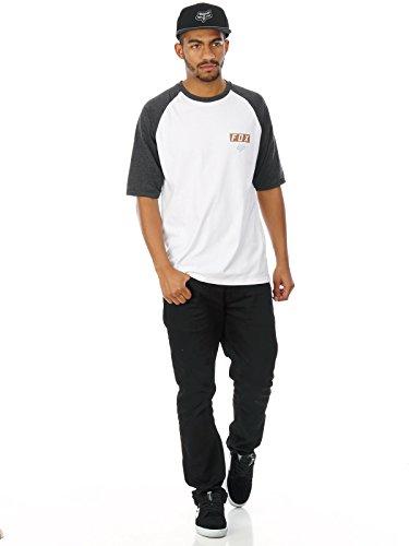 Fox T-Shirt Moth Raglan Weiß Weiß