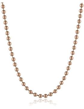 Engelsrufer Damen-Kugelkette rosé plated Stärke 2,0mm 925 Silber teilvergoldet 80 cm - ERNK-80-2R