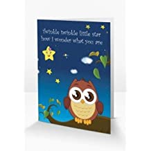 Magical & Interactive 'Twinkle Twinkle Little Star' Nursery Rhyme Themed Greeting Card Which Comes To Life