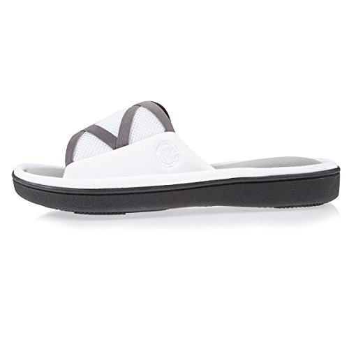 Isotoner Chaussons sandale femme Femme Blanc