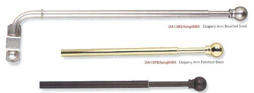 Extendable Dormer Window Drapery Arm Dormer Rod Black Stainless Steel Polished Ebay