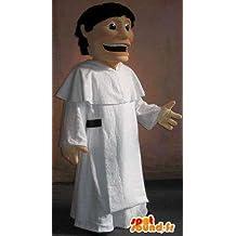 Amazon mascota personalizable SpotSound un monje de túnica blanca, disfraz religioso