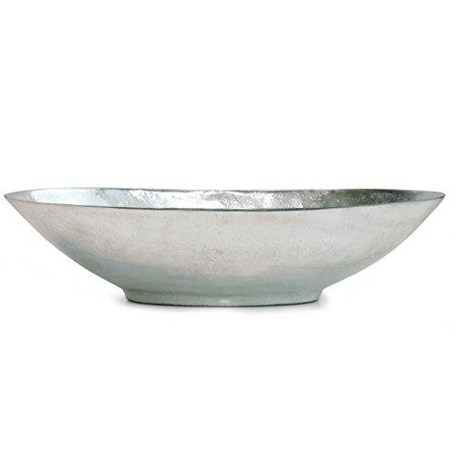 Schale aus Aluminium | oval | silber | elegante Dekoschale | modernes Design | Bell Arte