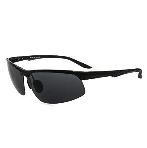 VEITHDIA Polarisierter Sport Sonnenbrille f¨¹r Herren und Damen Skifahren Golf Laufen Radsport Superleichtes Rahmen 6502-black