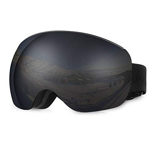 Occhiali da sci asommet - lenti intercambiabili magnetiche senza montatura - occhiali da vista otg anti-fog protezione uv occhiali da neve per donna uomo donna gioventù teenager