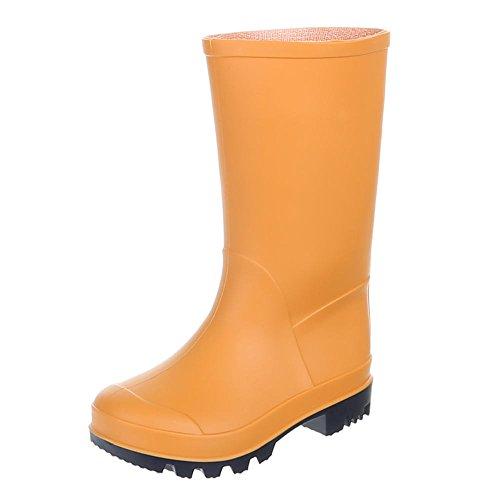 Gummistiefel Orange Kinder Regenstiefel k130p Gst Schuhe 57 IqfwfXOn8