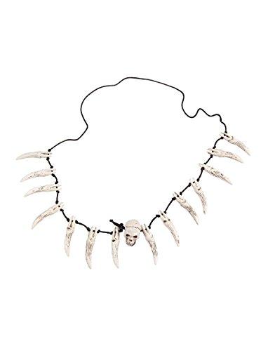 Halskette mit Schädel und Zähnen Keine Größe