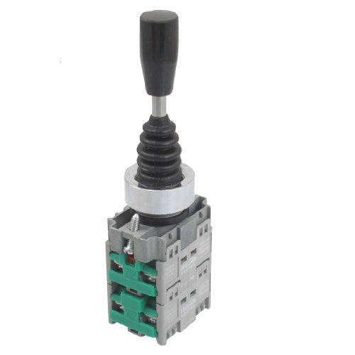 sourcingmap® AC 400V 10A Allaccio 4 Normale Aperto 22mm Fissaggio Foro Joystick Interruttore