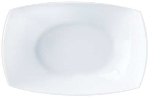 Plat de présentation rectangle QUADRATO Blanc 35x26 cm LUMINARC