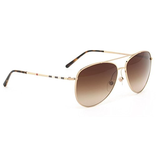 Burberry Herren Von Sonnenbrille Für (BURBERRY Unisex Sonnenbrille BE3072, Gold (Gestell: Gold, Gläser: Braun-Verlauf 118913), Large (Herstellergröße: 57))