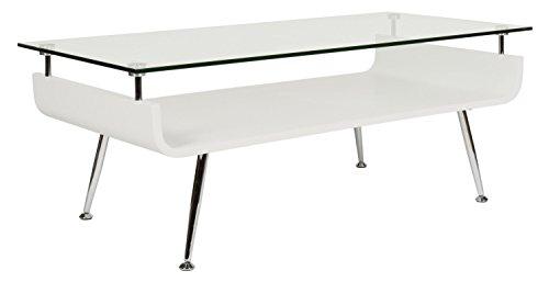 Ts-ideen design tavolo basso ripiano tavolo da caffè design giapponese vetro legno 90 x 45 cm