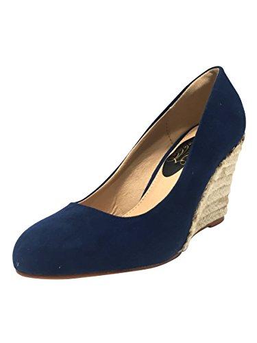 JPS Trading Services Damen Plateau, Blau - Blau - Größe: 39 (Größe 5 Schuhe Für Frauen Wedges)