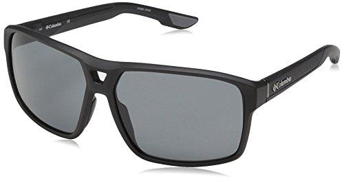 Columbia Men's Black Ridge Aviator Sunglasses, Matte Black, 62 mm